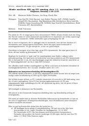Referat FUs møde med AR 11. november 2007 - Felis Danica