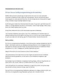 PRESSEMEDDELELSE - Energimærkning af ... - FDM netbutik