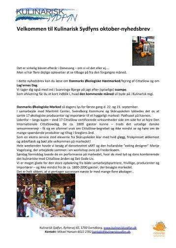 Læs nyhedsbrevet - Kulinarisk Sydfyn