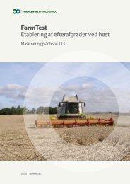 FarmTest Etablering af efterafgrøder ved høst - LandbrugsInfo