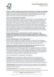 Faktaark om FSC-certificering og EU's forordning om ulovligt træ