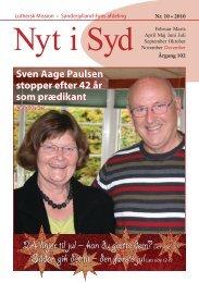 Nyt i Syd 10-2010 - Luthersk Mission, Sønderjyllands Afdeling