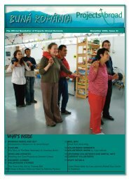 Projects Abroad Romania Newsletter - Issue November 2009:Layout ...