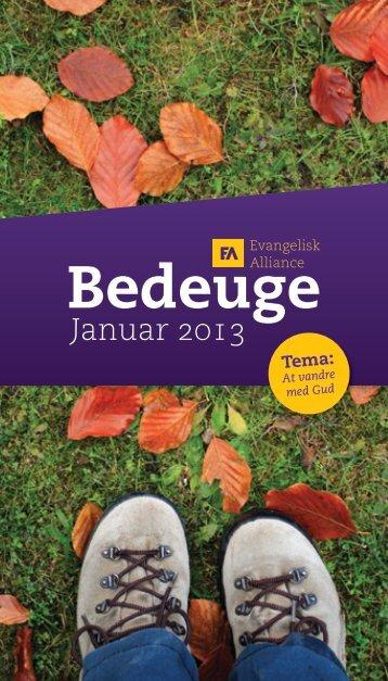 Download folderen til bedeuge 2013 her - Evangelisk Alliance
