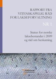 Rapport fra vitenskapelig råd for lakseforvaltning - NINA