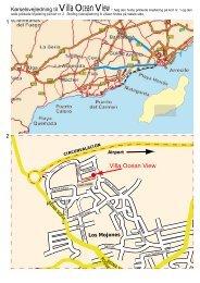 du kan downloade et pdf kort med ruteinfo til villaen fra Arrecife ...