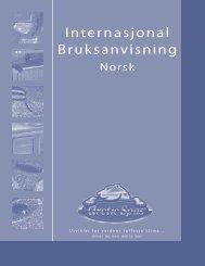 Internasjonal Bruksanvisning - Arctic Spas