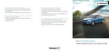 Topdanmark Forsikringsfolder - Skoda