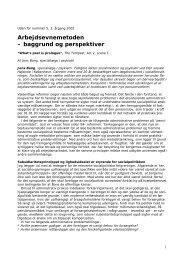 Arbejdsevnemetoden – baggrund og perspektiver