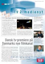 Dansk tv-premiere på Danmarks nye filmkanal - Tv2