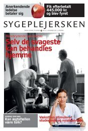 Sygeplejersken 2010 Nr. 19 - Dansk Sygeplejeråd