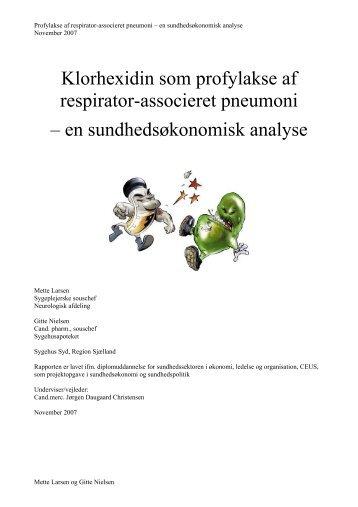 Klorhexidin som profylakse af respirator-associeret ... - Samnet