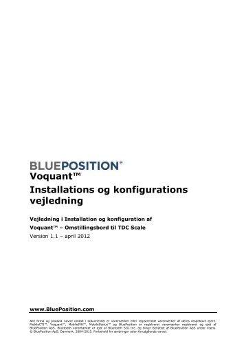 Voquant™ Installations og konfigurations vejledning - BluePosition