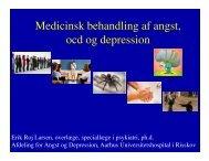 Medicinsk behandling af depression, angst og OCD v ... - Psykiater.nu