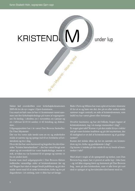 Kirstendommen under lup af Karen Elisabeth - Kirken Underviser