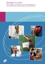 Strategier for viden - Danmarks Evalueringsinstitut (EVA)