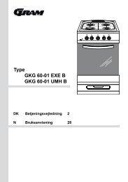 Type GKG 60-01 EXE B GKG 60-01 UMH B - Hvidt & Frit