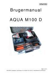 Brugermanual AQUA M100 D - Leif Koch