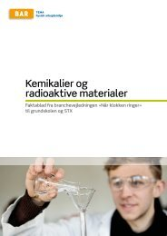 Kemikalier og radioaktive materialer - Arbejdsmiljoweb.dk
