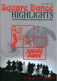nr. 2 - april 2010 - Danish Association of American Square Dance ...