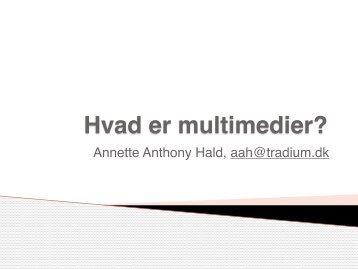 Intro til multimediadesign opsamling iPad