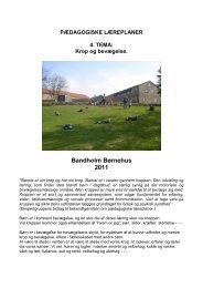 Krop og bevægelse - Bandholm Børnehus
