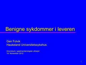 Tumores i leveren - Helse Bergen