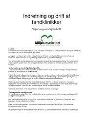 Indretning og drift af tandklinikker - Lyngby Taarbæk Kommune