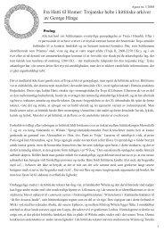 Fra Hatti til Homer: Trojanske helte i hittitiske arkiver av ... - e-agora