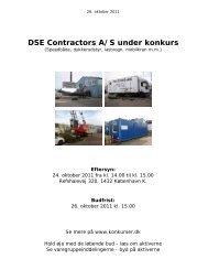 DSE Contractors A/S under konkurs - konkurser.dk