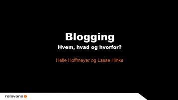 Blogging – hvem? hvad? hvorfor? - Relevans