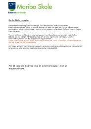 Bilag - princip sorgplan - Maribo Skole