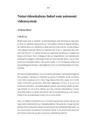 Naturvidenskabens fødsel som autonomt videnssystem - it-lab