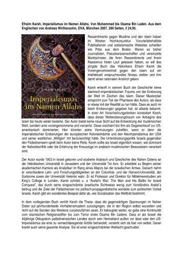 Imperialismus im Namen Allahs. Von Muhammad ... - Ludwig Watzal