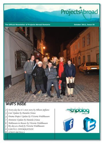 779KB Romania Newsletter - October 2012 - Projects Abroad