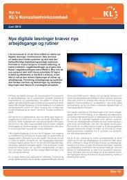 Nyt fra KL's Konsulentvirksomhed nr. 4, juni 2012 - KLK