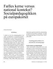Fælles kerne versus national kontekst? - Dansk Forening for ...