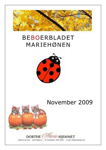 BEBOERBLADET MARIEHØNEN November 2009 - Mariehjemmene