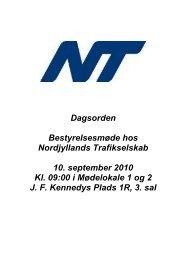 Dagsorden Bestyrelsesmøde hos Nordjyllands Trafikselskab 10 ...