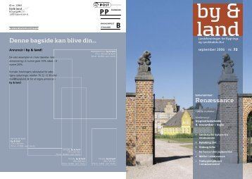 By & Land - September 2006.pdf - Bygningskultur Danmark