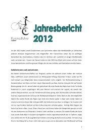 Jahresbericht 2012 - Kunstradfahrer Luzern
