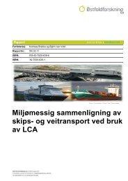 Miljømessig sammenligning av skips- og veitransport ... - Oslo Havn