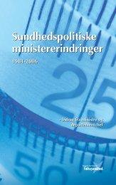 Sundhedspolitiske ministererindringer - Statens Institut for ...