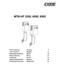 Battery charger MTM-HF 3200, 6000 and 8000 ... - Gnb-nordic.com