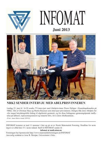 Juni 2013 - Norsk matematisk forening