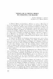 Notícia de la Mutual Mèdica de Catalunya i de Balears