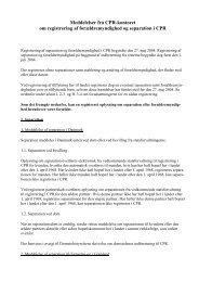 Meddelelser fra CPR-kontoret om registrering af forældremyndighed ...