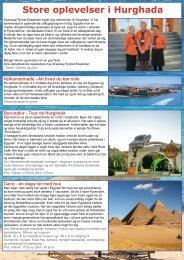 Se udflugtsprogram for Hurghada her - Scanway /Tyrkiet Eksperten