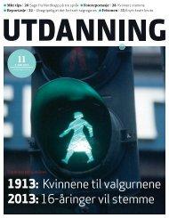 1913: Kvinnene til valgurnene 2013:16-åringer ... - Utdanningsnytt.no