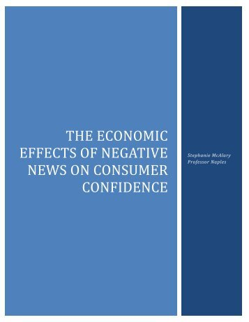 The Economic Effects of NEgative News on consumer confidence